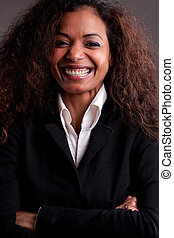 Beautiful businesswoman smiling