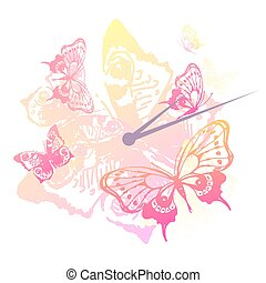 beautiful  butterflies, isolated on a white