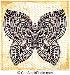 Beautiful butterflies seamless