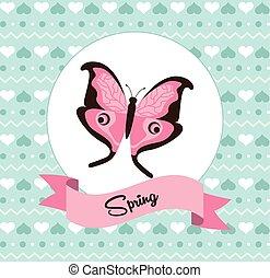 beautiful butterfly frame
