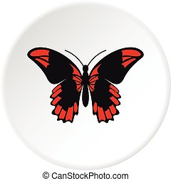 Beautiful butterfly icon circle