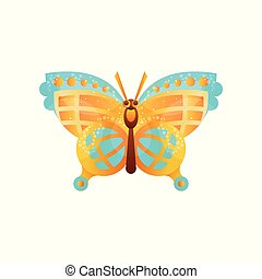 Beautiful butterfly insect vector Illustration on a white background