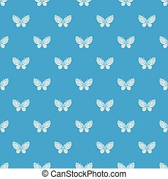 Beautiful butterfly pattern vector seamless blue