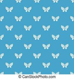 Beautiful butterfly pattern vector seamless blue