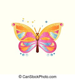 Beautiful butterfly vector Illustration on a white background