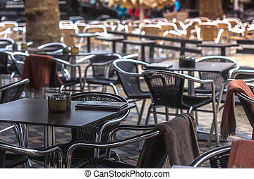 cafe on the street of the European city