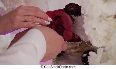 Beautiful cake at the festive event
