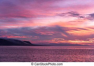 Beautiful California ocean sunrise