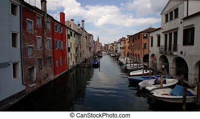 Beautiful canal in the city of Chioggia