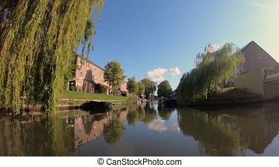 Beautiful canal view; sunny day