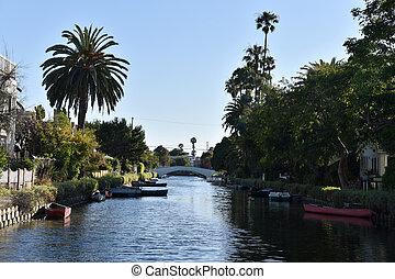 Beautiful canals in Venice California