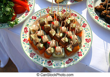 canape on the Fourchette table