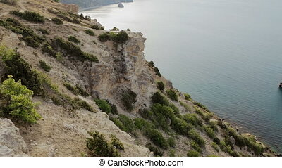 Beautiful Cape Fiolent. Heraclean peninsula on the southwest coast of Crimea.