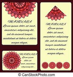 beautiful card with a pattern mandala layout