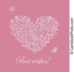 Beautiful card with lacy heart