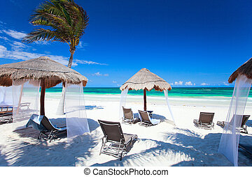 Caribbean coast - Beautiful Caribbean coast in Tulum Mexico