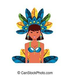 beautiful carnival dancer character
