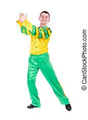 beautiful carnival dancer man dancing