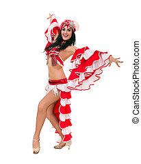 Beautiful carnival dancer posing