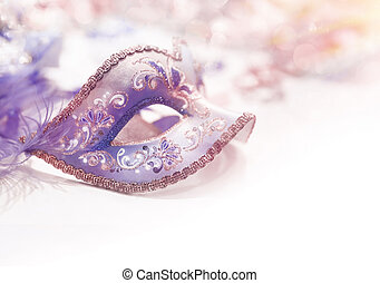 Beautiful carnival face mask - Beautiful purple carnival...