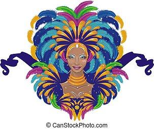 Beautiful carnival girl - carnival dancer