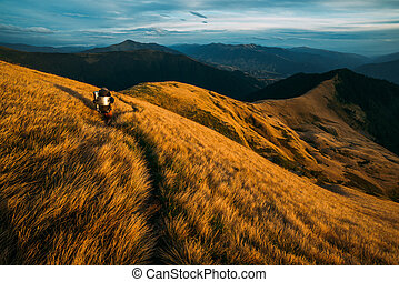 Beautiful Carpathian mountains in autumn time