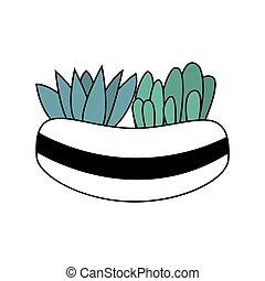 Beautiful cartoon style colorful plant vector illustration