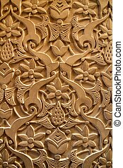 Beautiful carved stone texture