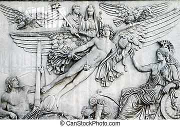 beautiful carving details located in the Vatican city