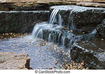 Beautiful cascading waterfall.