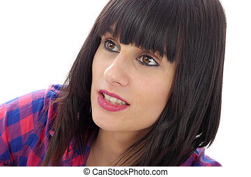 Beautiful casual brunette woman portrait