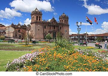 Cathedral in Cusco, Peru - Beautiful Cathedral in Cusco,...