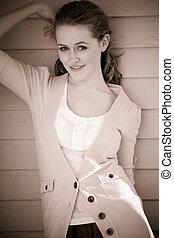 Beautiful caucasian girl