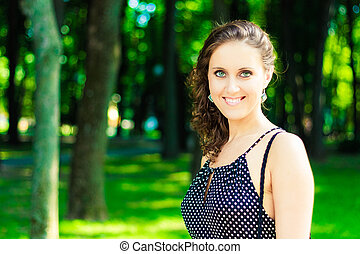 Beautiful caucasian girl portrait