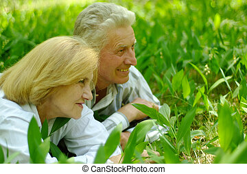 Beautiful Caucasian senior couple