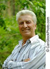 Beautiful Caucasian senior man