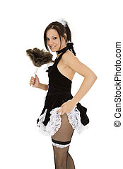 French Maid - Beautiful caucasian woman dressed in a French...