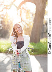 Beautiful Caucasian woman outdoor - A portrait of a...