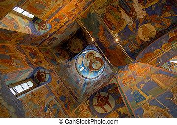 Beautiful ceiling of a Orthodox Church