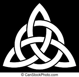 Beautiful Celtic Trinity knot (Triquetra)