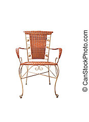 beautiful chair vintage style isolated on white background