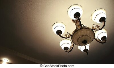 beautiful chandelier in the room