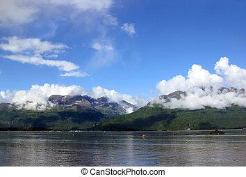Beautiful Chigach Mountains and Valdez Bay - Beautiful view ...