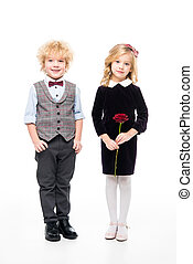 Beautiful children with flower
