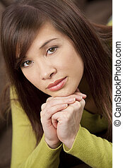 Beautiful Chinese Asian Young Woman