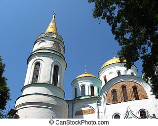 beautiful Christian church in Chernigov