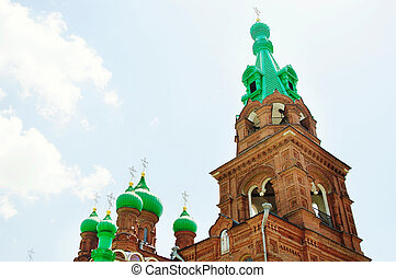 Beautiful Christian church in Russia