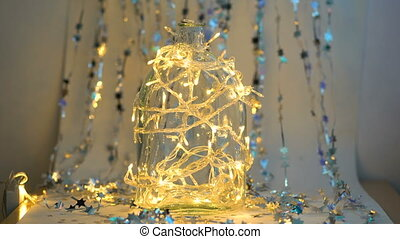 Beautiful christmas background shimmering with lights