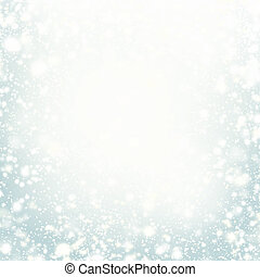Beautiful Christmas background with silver lights, stars and...