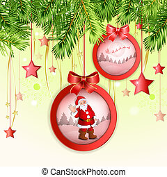 Christmas ball with Santa Claus